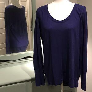 LOFT royal blue indigo lightweight sweater XL